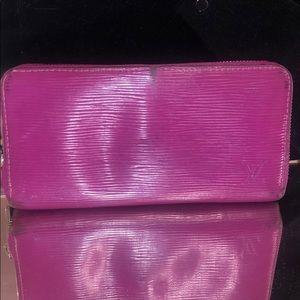 Louis Vuitton fuschia epileather wallet
